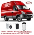 KIT5508A FILTER KIT IVECO NEW DAILY Iveco    Daily 2.3L TD    2005-2012   35S12 35S14 Turbo Diesel  4Cyl  F1A  EDI  DOHC 16V     OIL FUEL AIR FILTER SET