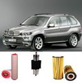 KIT6202 FILTER KIT BMW X5 3L 3.0L TDi 2003-2006 E53 TURBO DIESEL M57D29 M57D30  24V OIL FUEL AIR FILTER LUBE SERVICE KIT