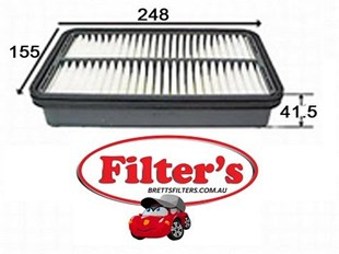 A162J AIR FILTER FOR TOYOTA Corolla Air Supply Sys May 87~May 89 1.5 L AE91 5A-FE  Air Supply Sys May 87~May 89 1.6 L AE92 4A-GE  Air Supply Sys May 89~Sep 91 1.6 L AE95 4A-FE