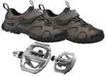 Shimano WM43 + Shimano A530 | Ladies Mountainbike / Touring Shoe & Pedal Combo