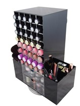 Black Rotating 80 Lipstick Makeup Cosmetic Organizer Storage Holder