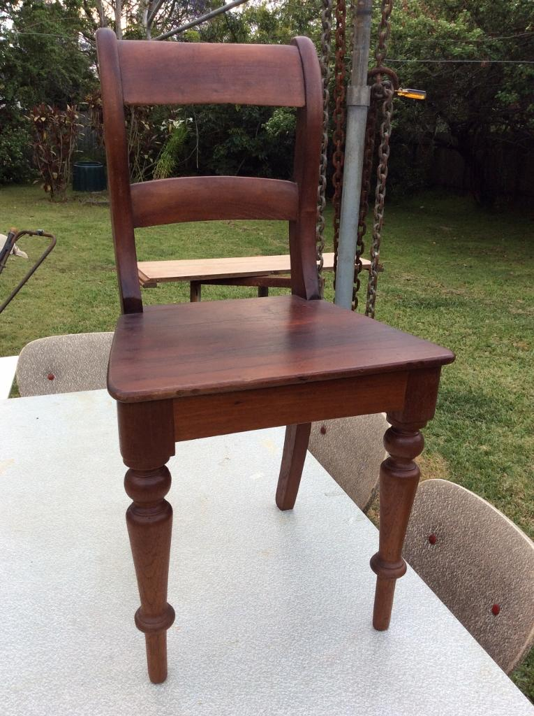 Early Australian Antique Colonial Cedar Rail Back Kitchen Dining Chair The Antique Store