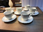 Set of 6 Vintage English Royal Marigold Alfred Meakin Tea Cups & Saucers.