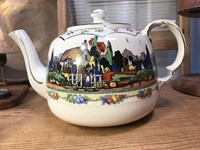 Lovely Vintage 1950's English Gibson's Porcelain Art Deco Teapot