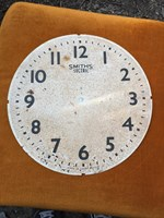 Antique Vintage English Smiths Sectric Metal Clock Face 31cm Man Cave Display