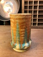 Beautiful Vintage English Beswick Drip Glazed Mottled Art Deco Vase