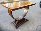 Vintage Australian 1940's Art Deco Walnut Veneer Lamp Occasional Table