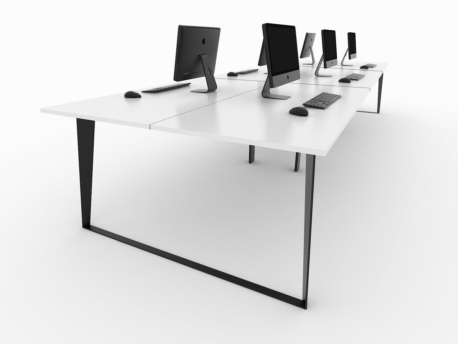 black ice desk 6 person workstation white 1200 office furniture rh kellysofficefurniture com au