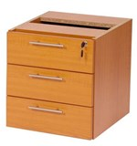 Stella Office Furniture Fixed Pedestal 3 Single Drawers (S8)