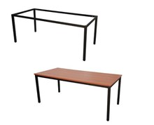 Kellys - Express Steel Frame Table Black Frame Various Sizes