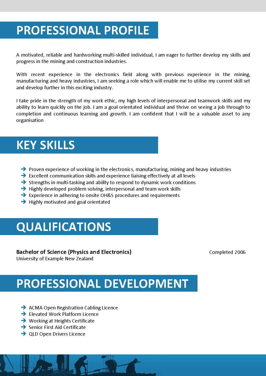 resume template 118 construction construction design resume design