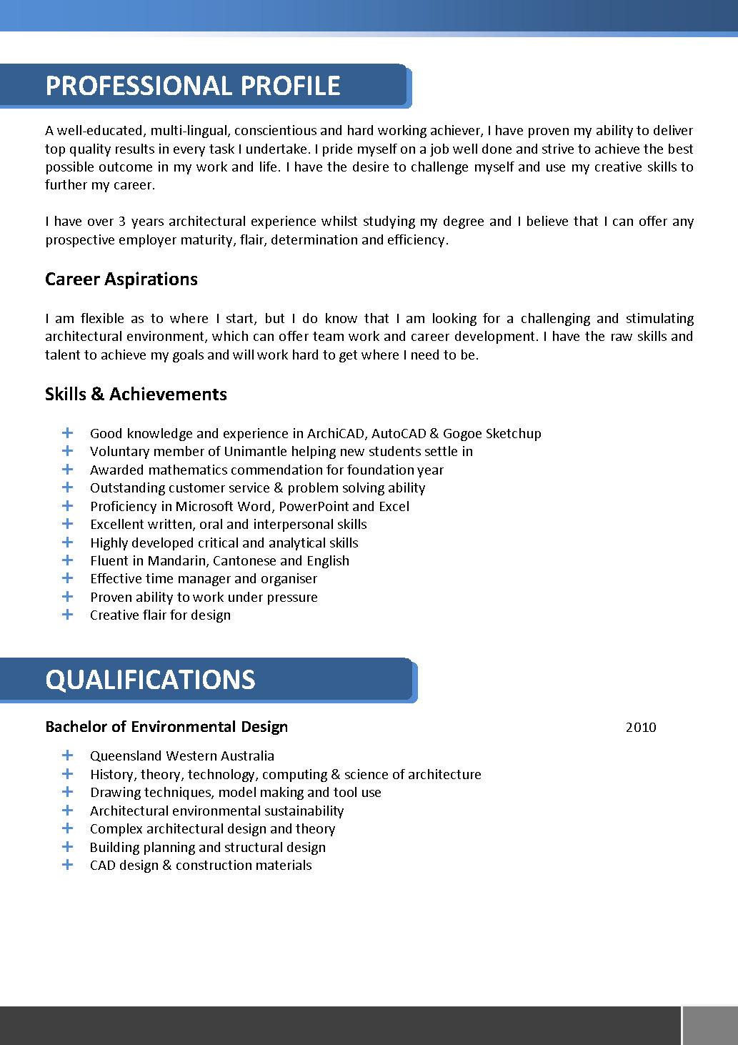 architecture resume template architects resume template 066 - How To Make The Best Resume Possible
