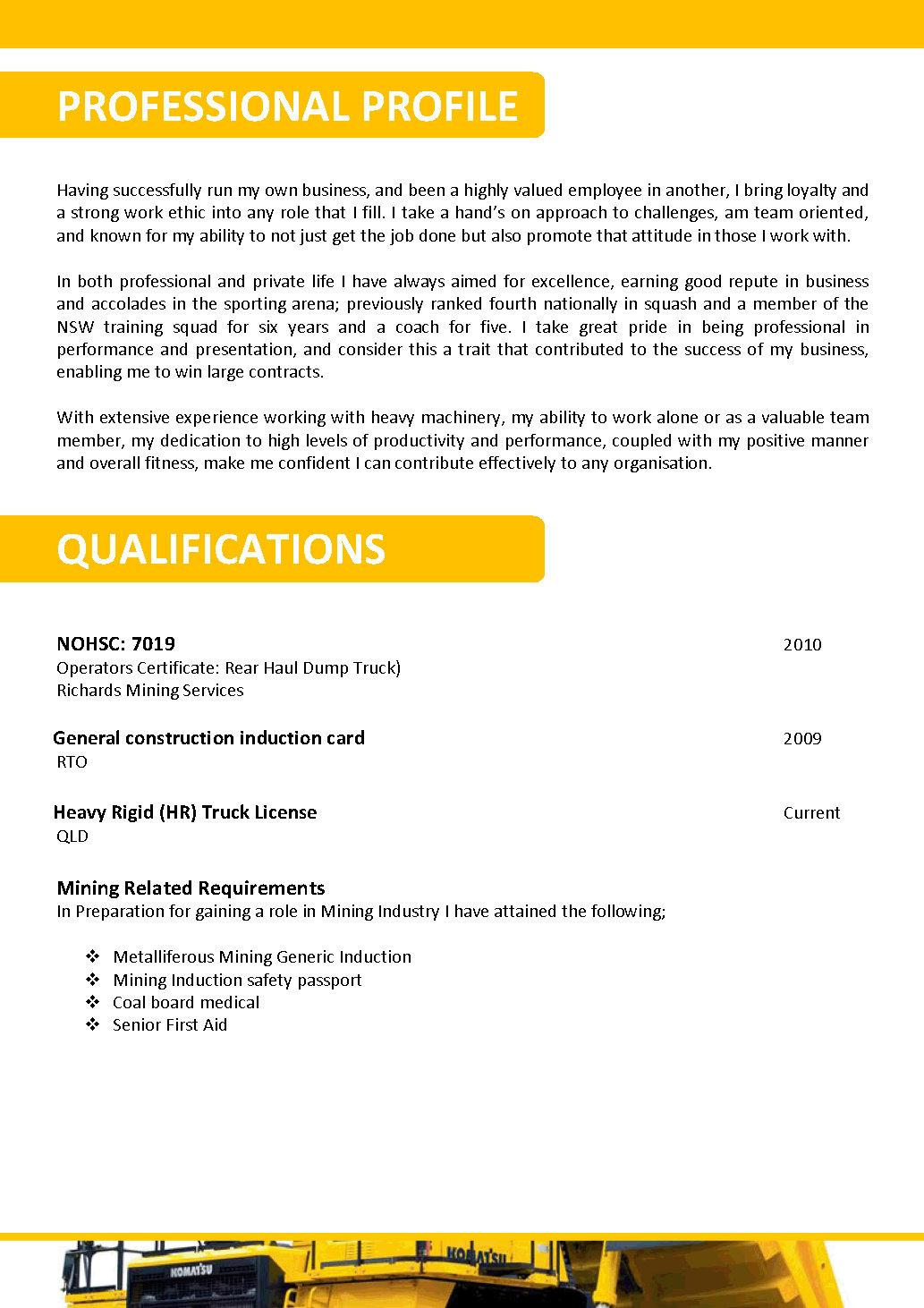 We can help with professional resume writing resume templates – Mining Resume Example