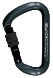 KARBNR019 : Kong 737 Big D Screw Gate Black Carabiner