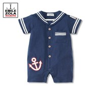 Emile Zola Navy 1 Piece Blue Sailor/Navy Romper - Baby Boy Clothes