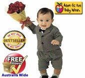 Little Valentine Boys Suit/Tuxedo - Formal/Wedding 2-Pcs Suit - Baby Boy Clothes