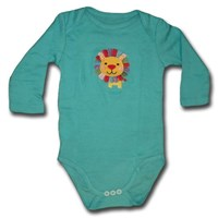 Lion in Blue Long Sleeve Romper/Onesie - Baby Boys & Girls Clothes