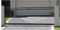 SLIDING GATE STYLE 4.6m - 5m long x 1600 high