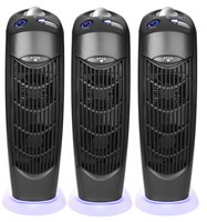 Three Atlas Ionic UV Electrostatic  Carbon Filter Air Purifiers no main filter replacement