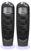 Two Electrostatic Ionic UV Atlas Carbon Filter Air Purifiers low energy use no filter