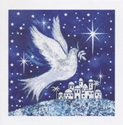 Dove of Peace on Blue