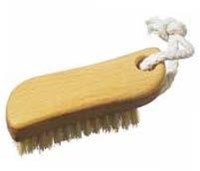 Nail Brush S shaped hanging with fibre bristles
