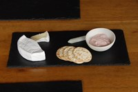 Slate Cheese Tray with Condiment Bowl