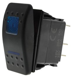LV5107 - On/Off Sealed Rocker Switch with 2 Blue LED's