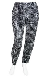 SALE - DUSUD - tweed print zip pleat pant