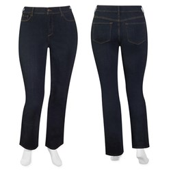 FINAL SALE - NYDJ - dark indigo straight leg tummy tuck jean