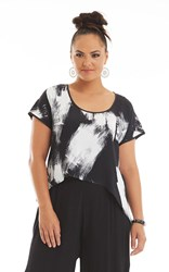 SALE - Chocolat  - urban graffiti glow top