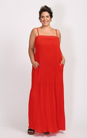 FINAL SALE - Cooper by Trelise Cooper - red pleating love dress
