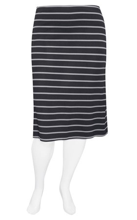 FINAL SALE - Weyre - dove stripe midi skirt