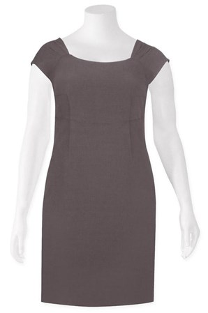 SALE - Verge - claudia dress in taupe - final clearance