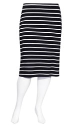FINAL SALE - Weyre - stripe midi skirt