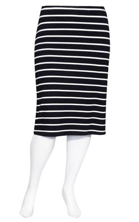 SALE - Weyre - stripe midi skirt