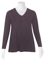 FINAL SALE - Weyre - grappa relaxed scvee long sleeve top