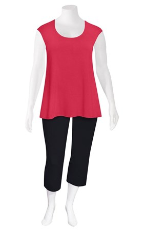 FINAL SALE - Weyre - raspberry relaxed scoop shell