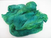 SP015 Glorious Greens Hand Dyed Silk Fibre