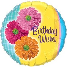Birthday Wishes - Zinnea Flowers (Balloon-In-A-Box)