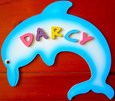 DOLPHIN Blue Name Plaque