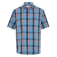 R.M. Williams Hervey Shirt - Blue Orange
