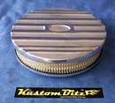 Air Cleaner 9 inch Ford Oval POLISHED with 2 inch element - Stromberg single barrel diameter 2' 5/16' inch neck
