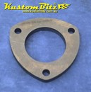 Exhaust Flange Plate 3 bolt 2 1/2  inch 10mm thick ~ Mild Steel