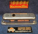 Chevy V6 Valve Covers Polished - Panel Tops