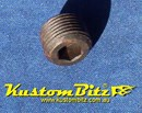 NPT Plug 3/8 inch pressure plug Mild Steel Black - Perfect for Oil galleries in engine block 3/8