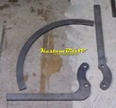 Hot Rod Cycle guard bracket kit - Front Wheel - I beam or IFS - Mild Steel
