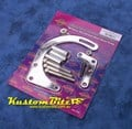 Chrome Alternator mounts - GM Small Block Chevy low mount style Suits Short Water Pump