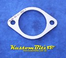 Exhaust Flange Plate 2 bolt 2 1/2  inch 10mm thick ~ Stainless Steel