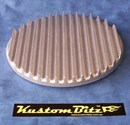 Air Cleaner 9 inch Flat Top Finned RAW [Shot Blasted] - TOP ONLY
